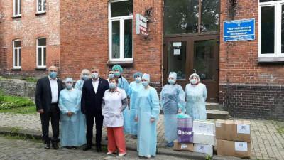 Ярошук оказал помощь Черняховской инфекционной больнице