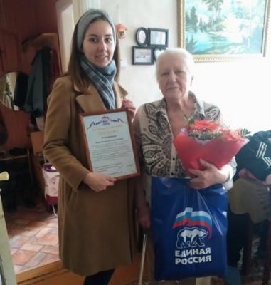 Единороссы Советска поздравили старейшего члена партии с 82-летием