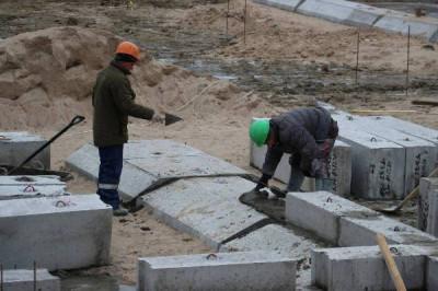 В Калининграде продолжается строительство нового детского сада