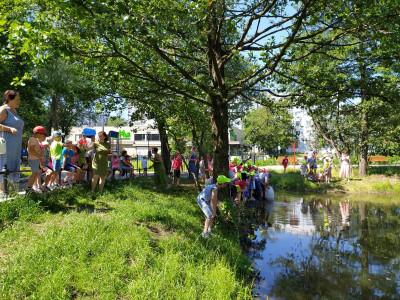 Калининградские единороссы организовали зарыбление водоема в Чкаловске